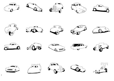 Extremeclipart Vector material - classic cars