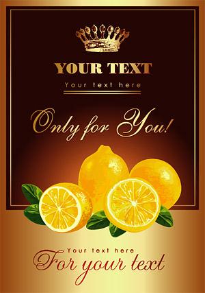 Lemon posters vector material