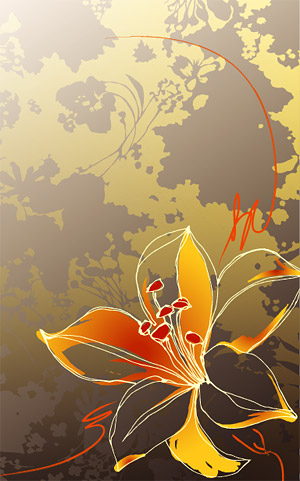 Hand-painted flowers vector background material