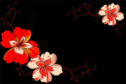 Fashion Flower vector material