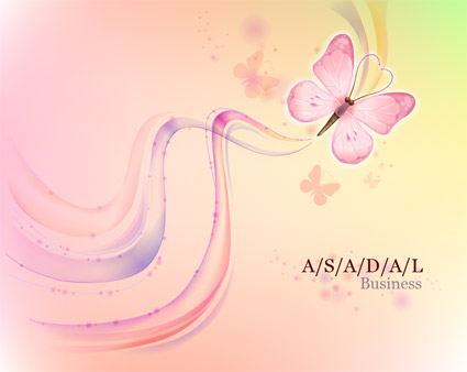 Butterfly Dream background and vector material