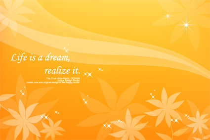 Dreams in the autumn of vector background material