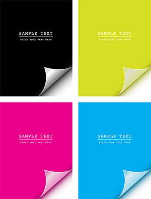 Angular vector material cmyk paper