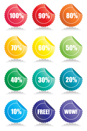 Angular vector material badges web2.0