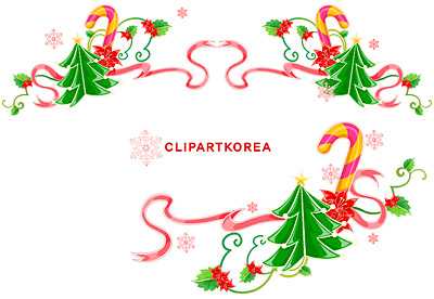 Christmas exquisite lace Vector material-1