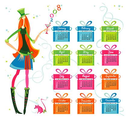 2008 calendar year vector material-1