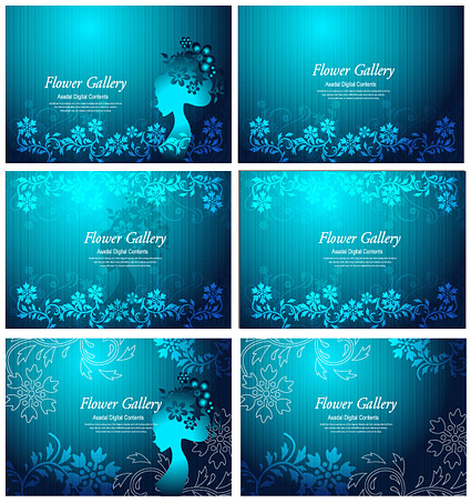 Flower and beauty vector material-3