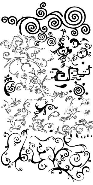Vector material for black and white patterns