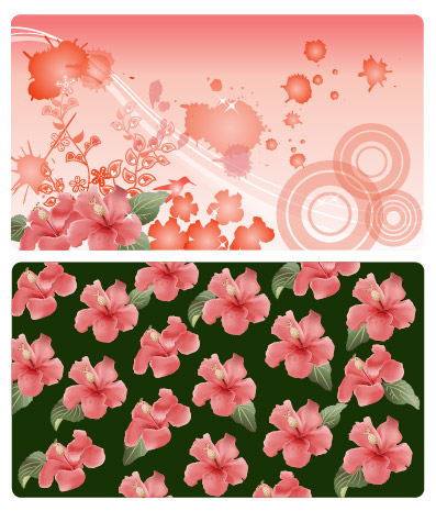 Flower and the ink vector material