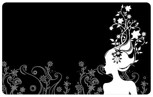 Flower and beauty vector material
