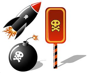 Skulls missile bomb elements