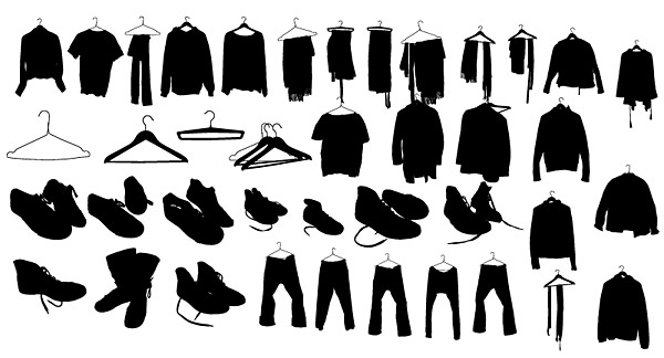 Vector clothes shoes