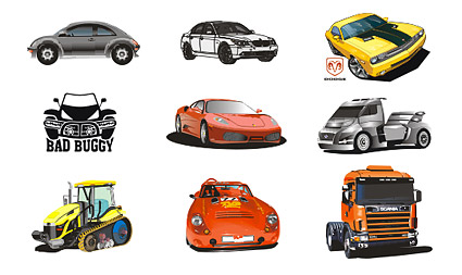 Cool car vector material