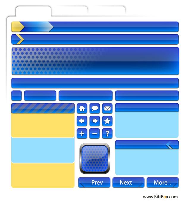 Web Design material - decoration, buttons, navigation-2