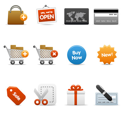 Shopping category icon vector material