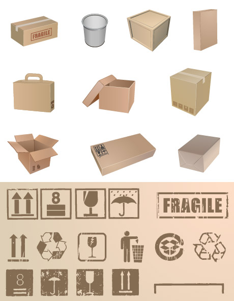 Packaging and packaging commonly used symbol