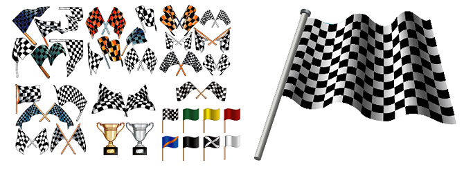 f1 racing banner with the trophy element