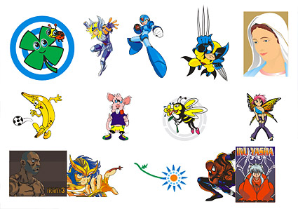Vector animation cartoon characters