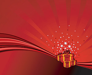 Vector joyous holiday gifts elements material