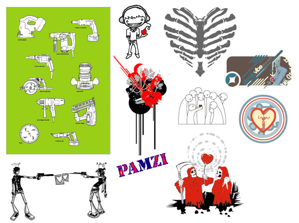 Vector series of pictorial material trend-1