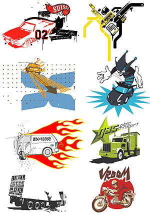 Vector series of pictorial material trend-3
