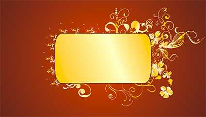 Gold gorgeous patterns Vector-6