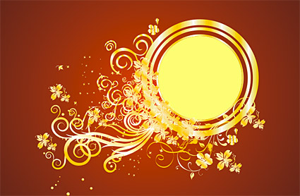 Gold gorgeous patterns Vector-7