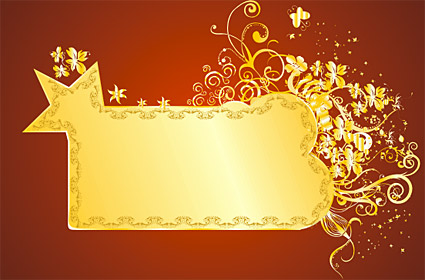 Gold gorgeous patterns Vector-10