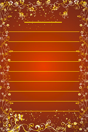 Gold gorgeous patterns Vector-13