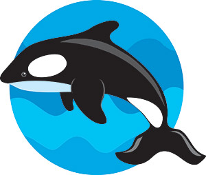 Jumping the whale vector