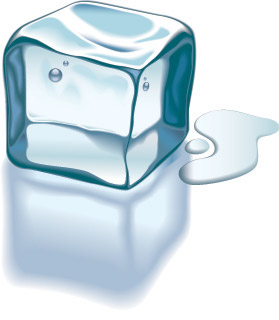 Vector texture ice