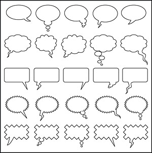 Dialogue bubble element vector