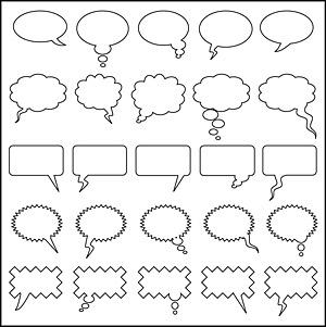Dialogue bubble element vector