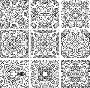 Classical pattern vector logo