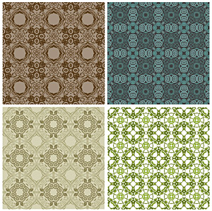 Classic tile pattern vector