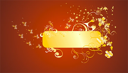 Gold gorgeous patterns Vector-2