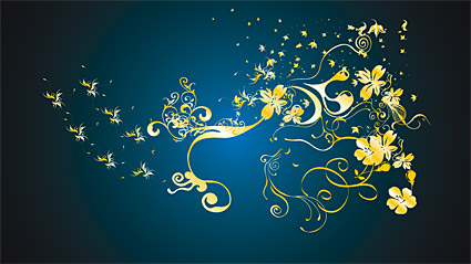 Gold gorgeous patterns Vector-4