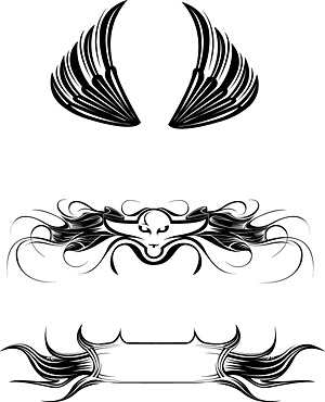 Vector material elements of the trend wings