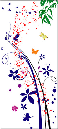 Vector butterfly pattern and material