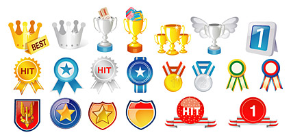 Medals and trophies Vector material