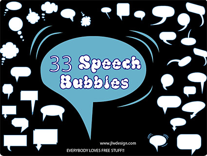 Accommodates a dialogue bubble element vector material