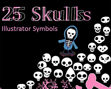 Lovely skull element vector material