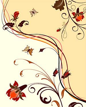 Fashion Flower background material element vector