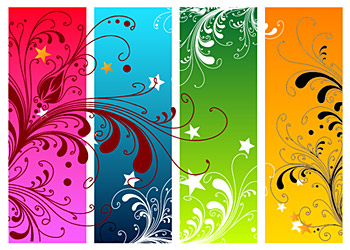 Flower trend element vector material