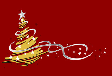 Vector material strokes style Christmas tree