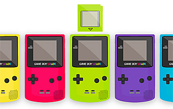 Game Boy Color vector material
