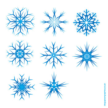 Christmas snowflakes vector material