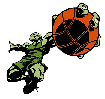 Basketball figures Vector