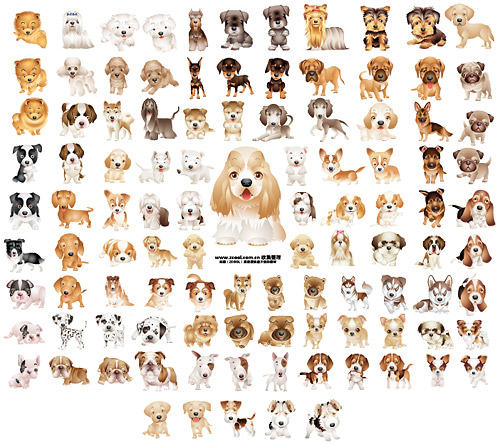 Puppy dog vector material