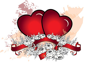 Heart-shaped vector material-1